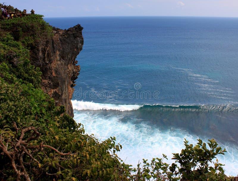 Puntello roccioso Uluwatu Isola di Bali immagini stock