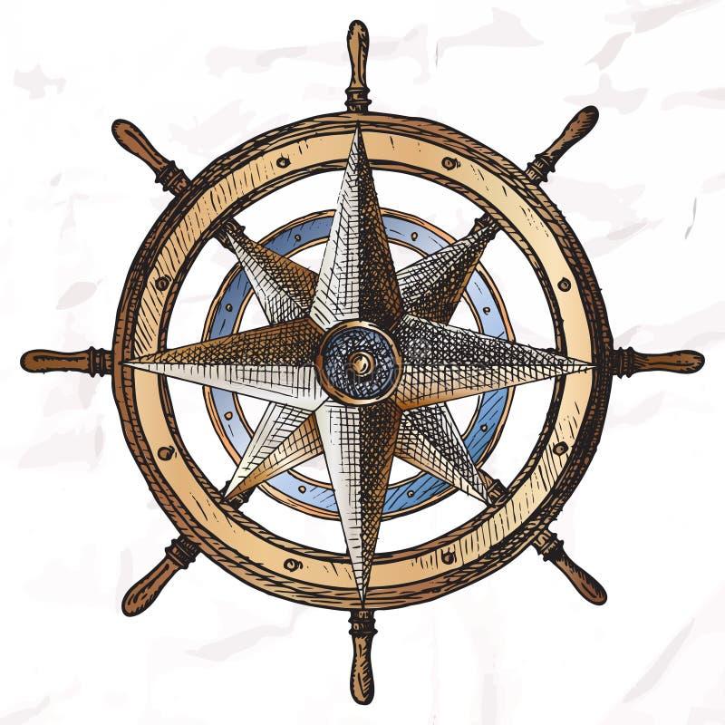 Punten op het mariene thema vector illustratie