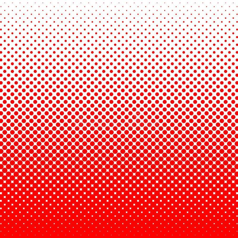 Punten op Rode Achtergrond Pop-artmalplaatje Geometrische abstracte achtergrond stock foto