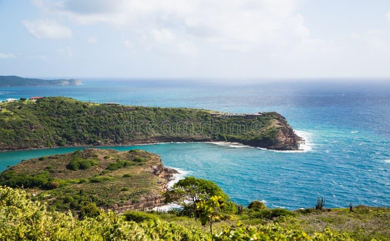 Punten van Land in Antigua royalty-vrije stock foto