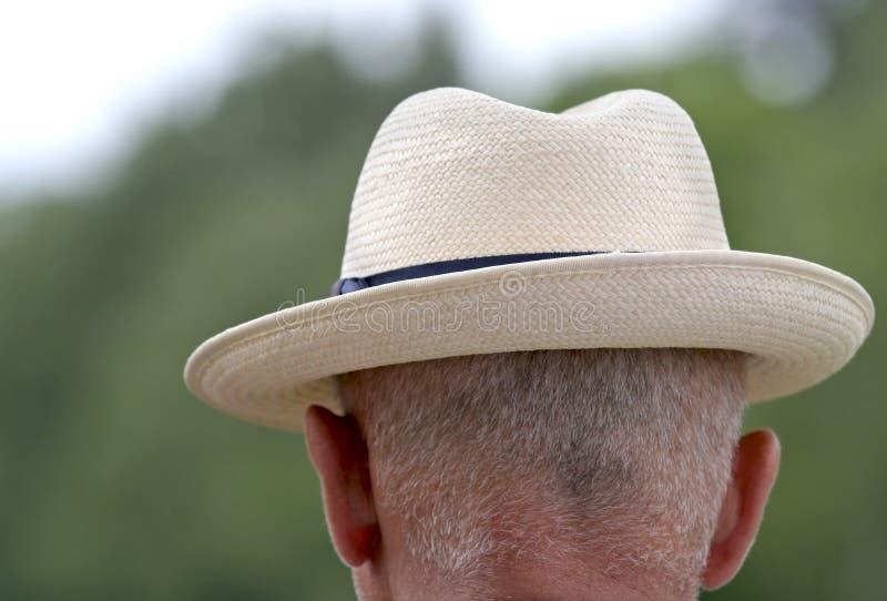 Punter. Gentleman in panama hat from behind stock photos