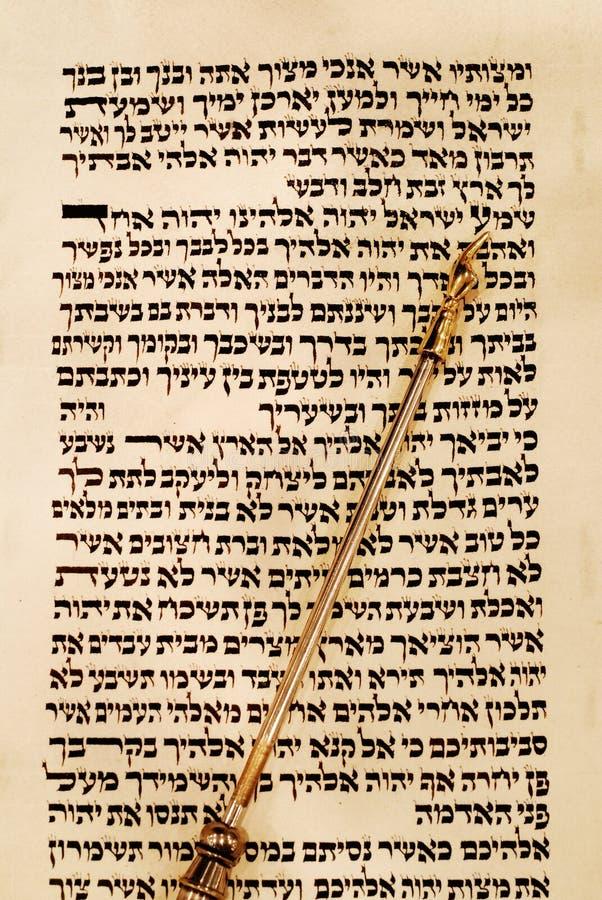 Puntero de Torah y de Yad fotos de archivo