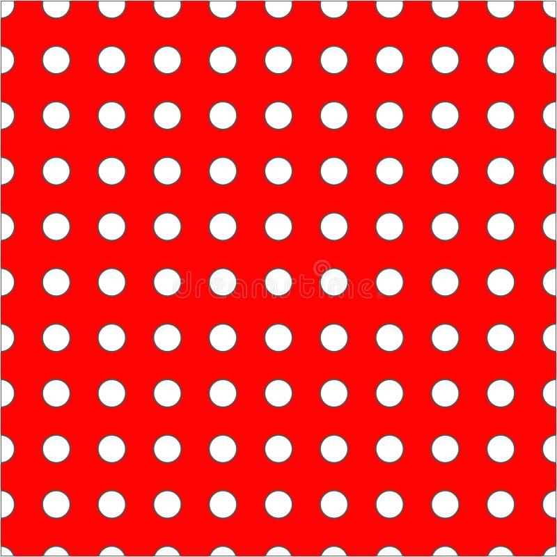 Punti bianchi sul modello senza cuciture del fondo rosso immagine stock libera da diritti