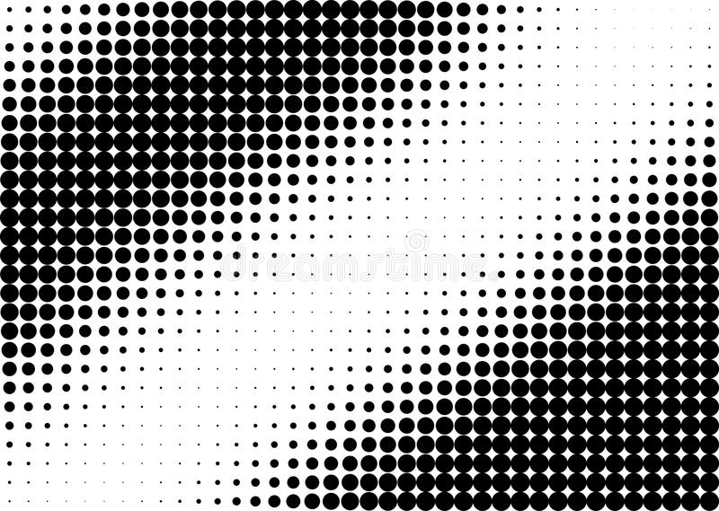 Punti in bianco e nero del semitono illustrazione vettoriale