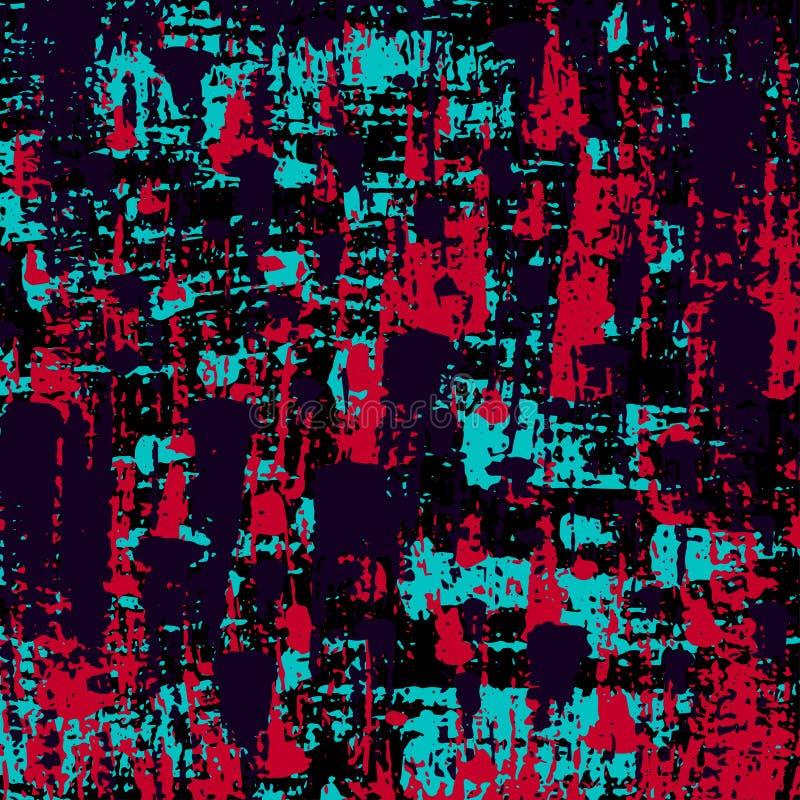 Punti colorati graffiti su un fondo nero illustrazione vettoriale