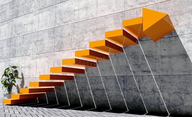 Punti da muoversi in avanti verso il livello seguente, concetto di successo immagini stock