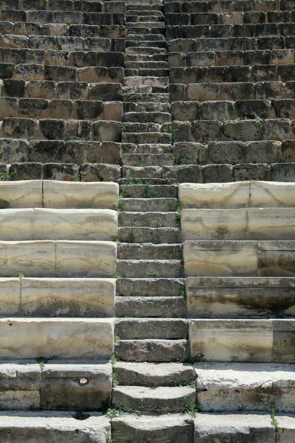 Punti del teatro di Kourion immagine stock libera da diritti