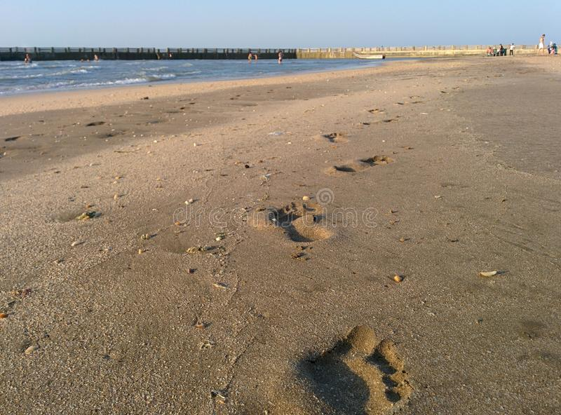 Punti della sabbia fotografia stock