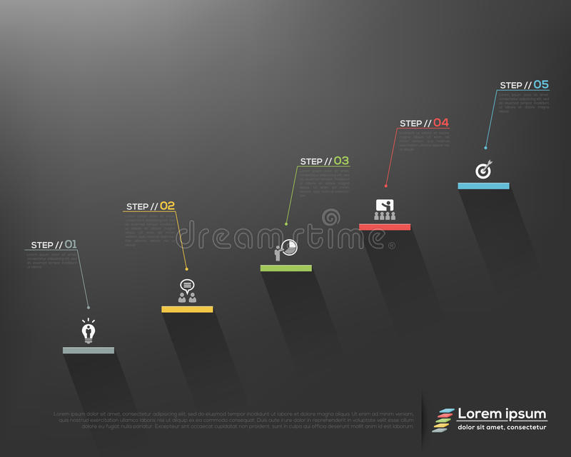 Punti della scala del fondo di affari a successo illustrazione vettoriale