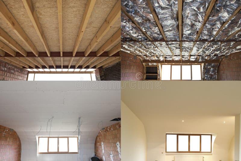 Punti di costruzione di un tetto fotografia stock libera da diritti