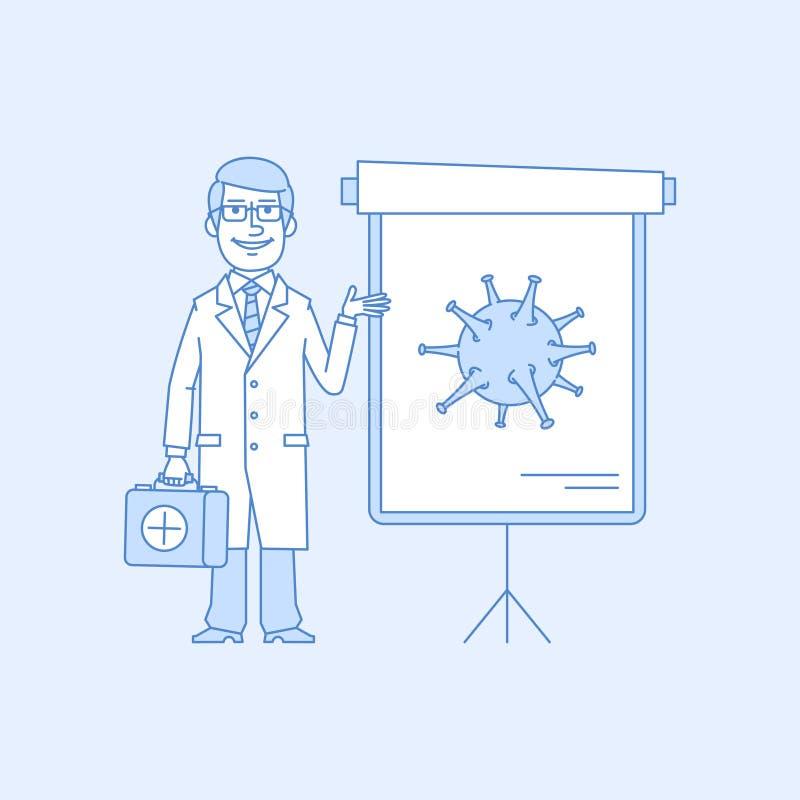 Punti di medico al grafico di vibrazione illustrazione di stock