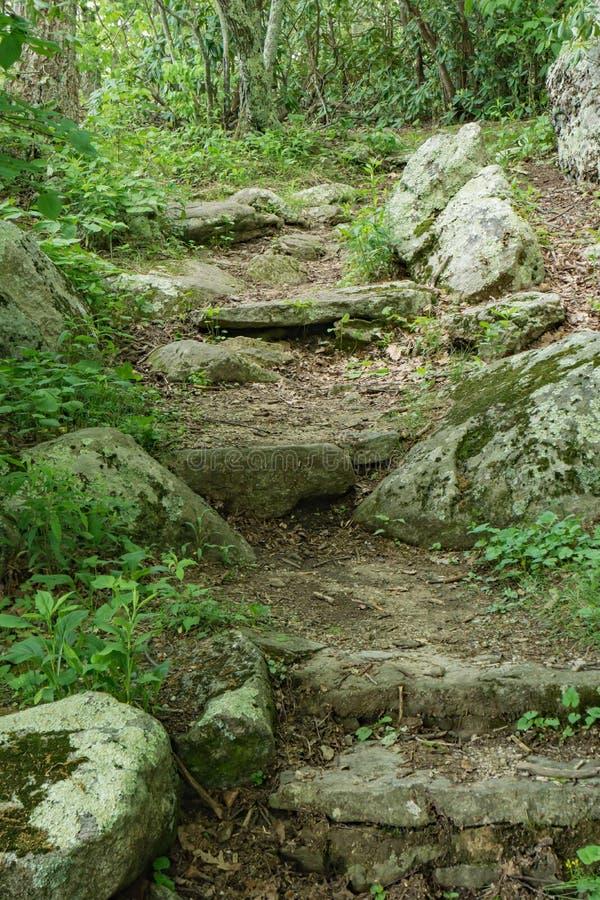 Punti di pietra in Ridge Mountains blu fotografia stock