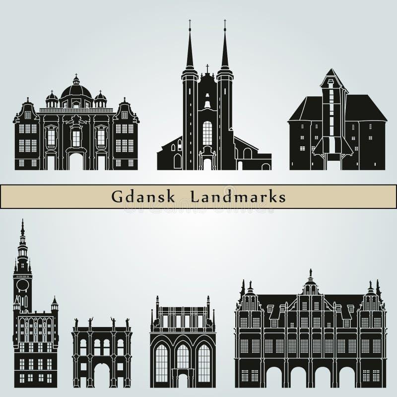 Download Punti Di Riferimento Di Danzica Illustrazione Vettoriale - Illustrazione di siluetta, architettura: 56891011