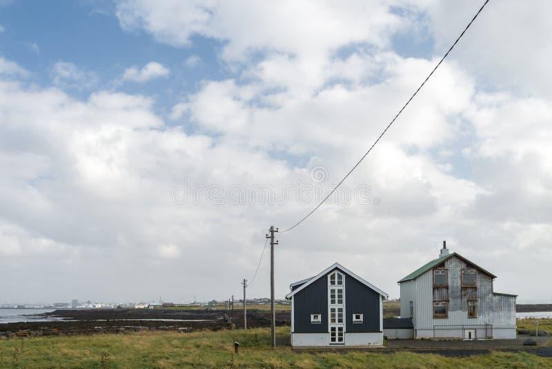 Punti di riferimento di Reykjavik, Islanda fotografie stock