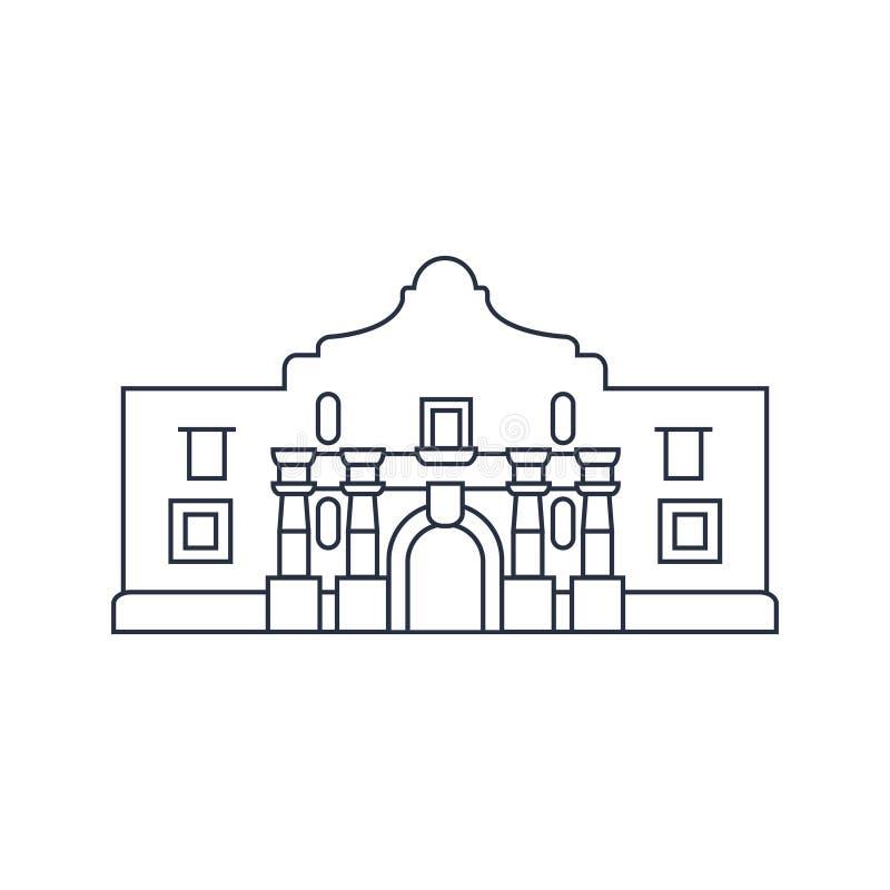 Punti di riferimento di U.S.A. - San Antonio illustrazione di stock