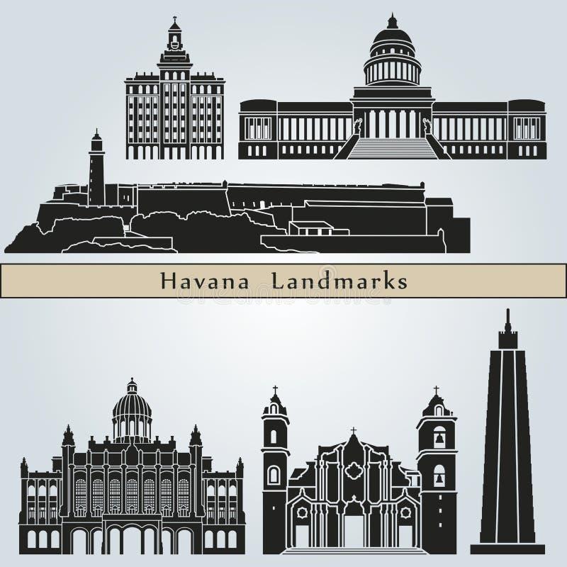 Punti di riferimento e monumenti di Avana royalty illustrazione gratis