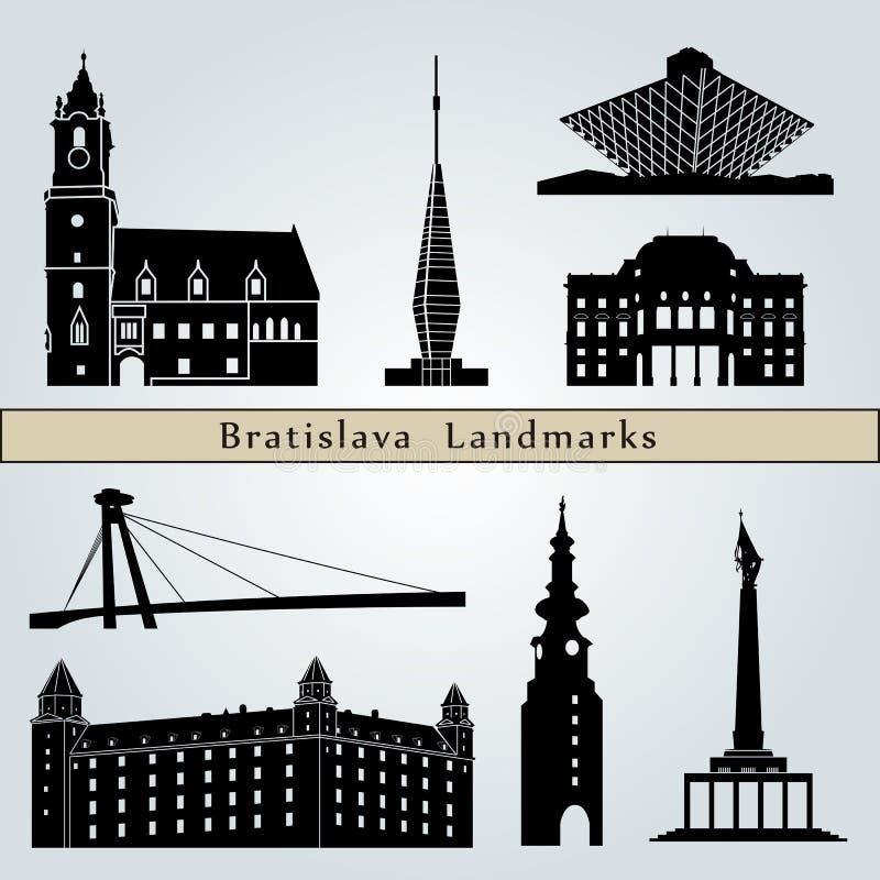 Punti di riferimento e monumenti di Bratislava royalty illustrazione gratis