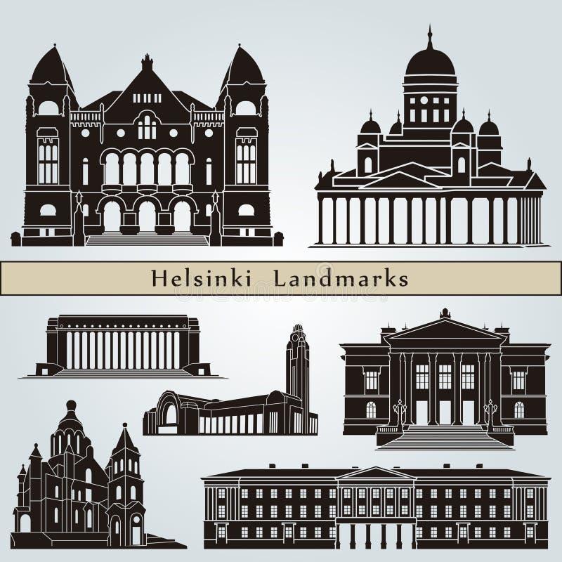 Punti di riferimento e monumenti di Helsinki royalty illustrazione gratis