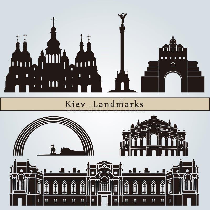 Punti di riferimento e monumenti di Kiev royalty illustrazione gratis
