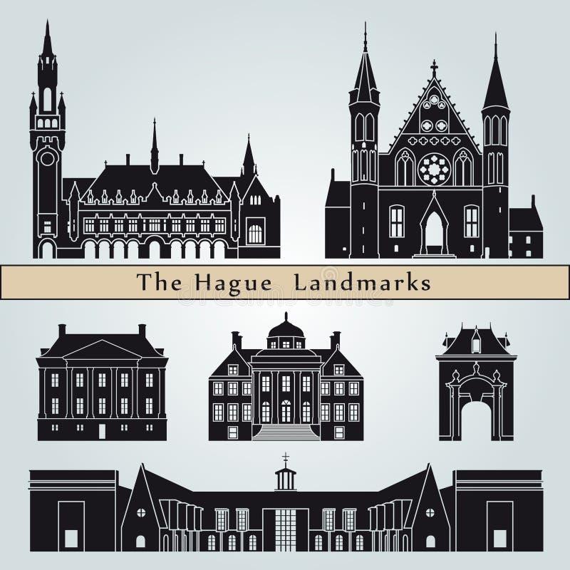 Punti di riferimento e monumenti di L'aia royalty illustrazione gratis