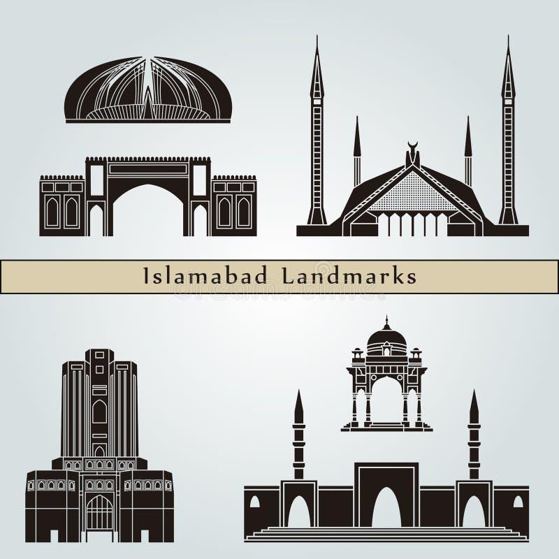 Punti di riferimento e monumenti di Islamabad fotografia stock