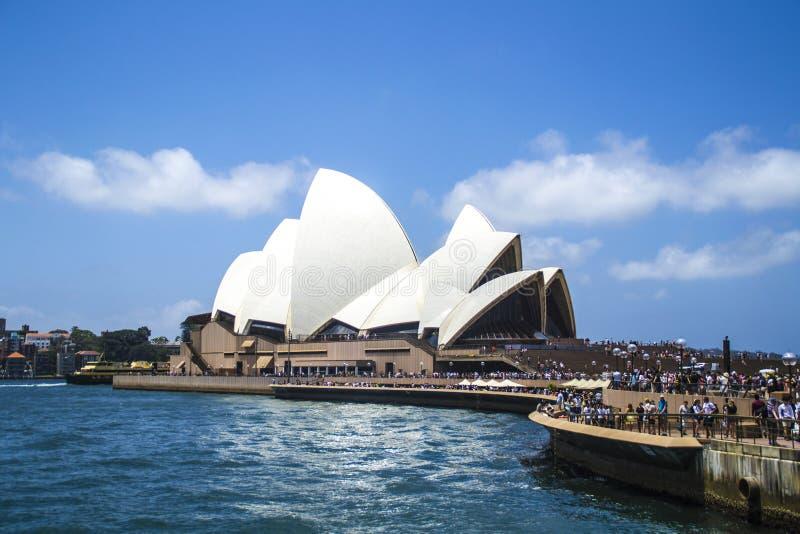 Punti di riferimento iconici della città di Sydney, Australia immagine stock