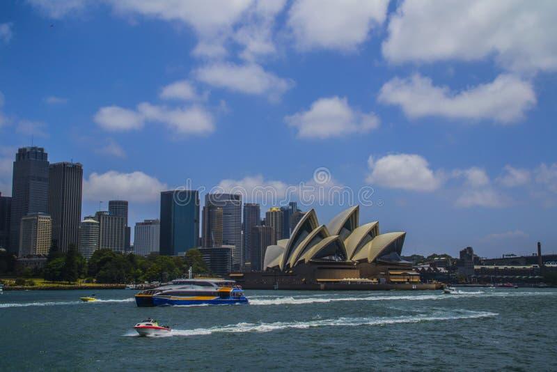 Punti di riferimento iconici della città di Sydney, Australia immagine stock libera da diritti