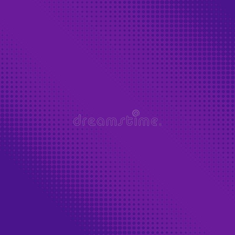 Punti di semitono porpora Pendenza geometrica variopinta per le progettazioni di Pop art Retro modello geometrico punteggiato Sem illustrazione di stock
