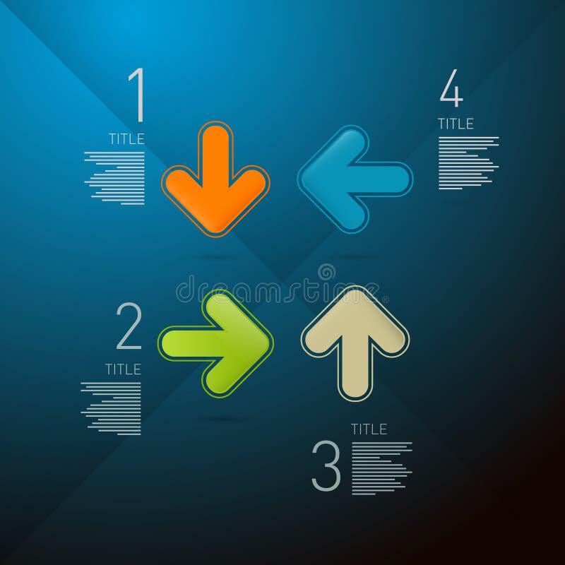 Punti di vettore per l'esercitazione, Infographics illustrazione vettoriale