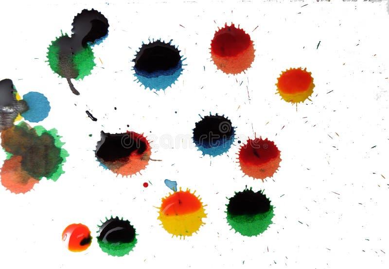 Punti e puntini astratti della vernice fotografia stock