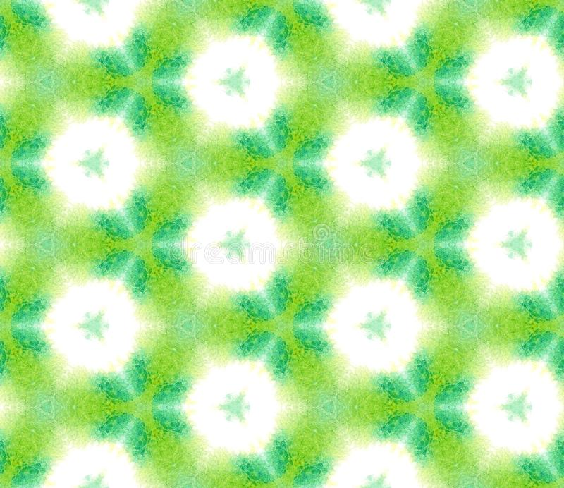 Punti, Ikat, Tie Dye, Batik Seamless Pattern illustrazione di stock