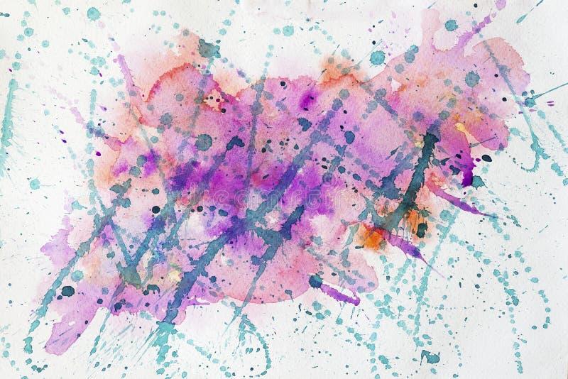 Punti multicolori luminosi viola, porpora e verdi, allegri su Libro Bianco, tonalità della molla Colore dell'anno Tiraggio della  illustrazione vettoriale