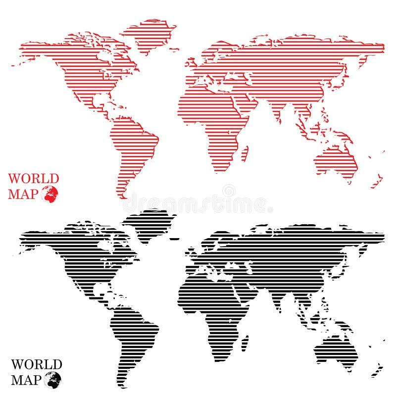 Punti rotondi astratti della mappa di mondo del grafico di computer illustrazione vettoriale