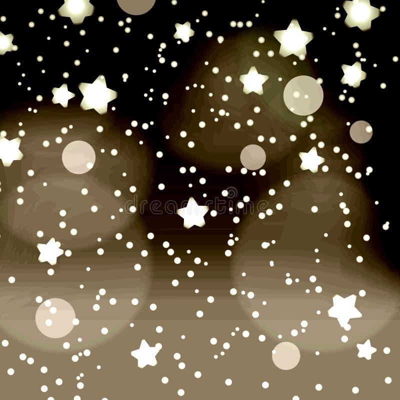 Punti scuri astratti di notte e retro fondo eps10 del bokeh delle stelle illustrazione di stock
