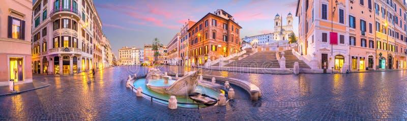Punti spagnaSpanish del de della piazza a Roma, Italia immagine stock