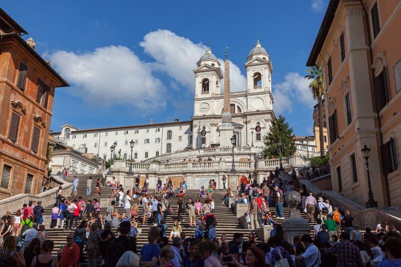 Punti spagnoli alla piazza di Spagna - Roma, Lazio, Italia fotografia stock