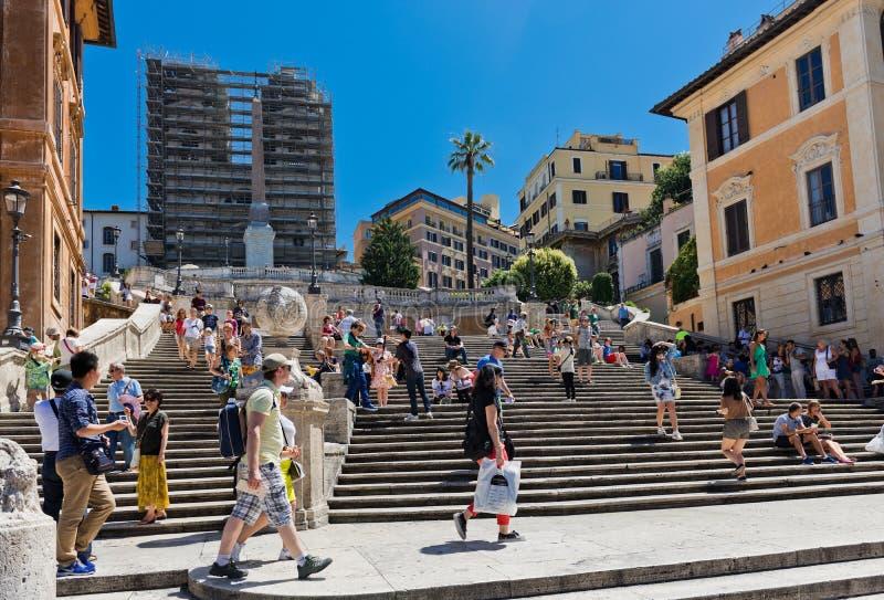 Punti spagnoli settembre a Roma, Italia fotografia stock libera da diritti