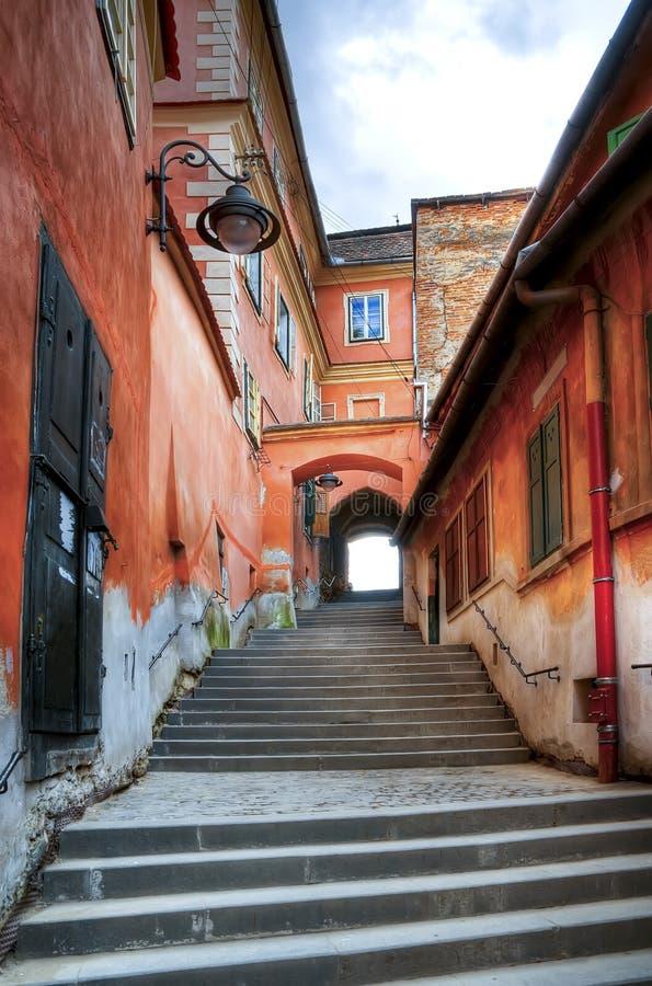 Punti stretti a Sibiu fotografie stock libere da diritti