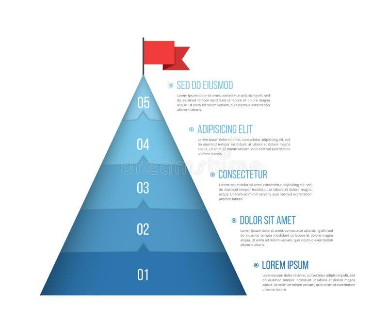 5 punti a successo illustrazione vettoriale
