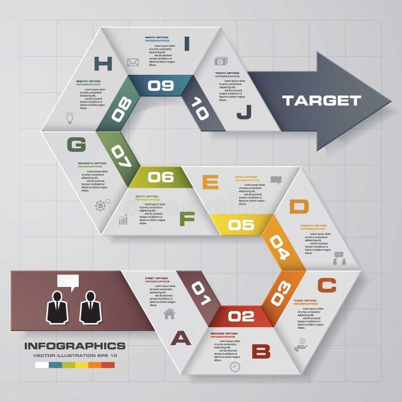 10 punti tracciano una carta della disposizione del modello/grafico o del sito Web illustrazione di stock