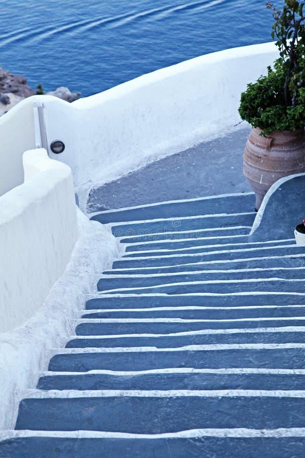 Punti unici a OIA, Santorini immagini stock