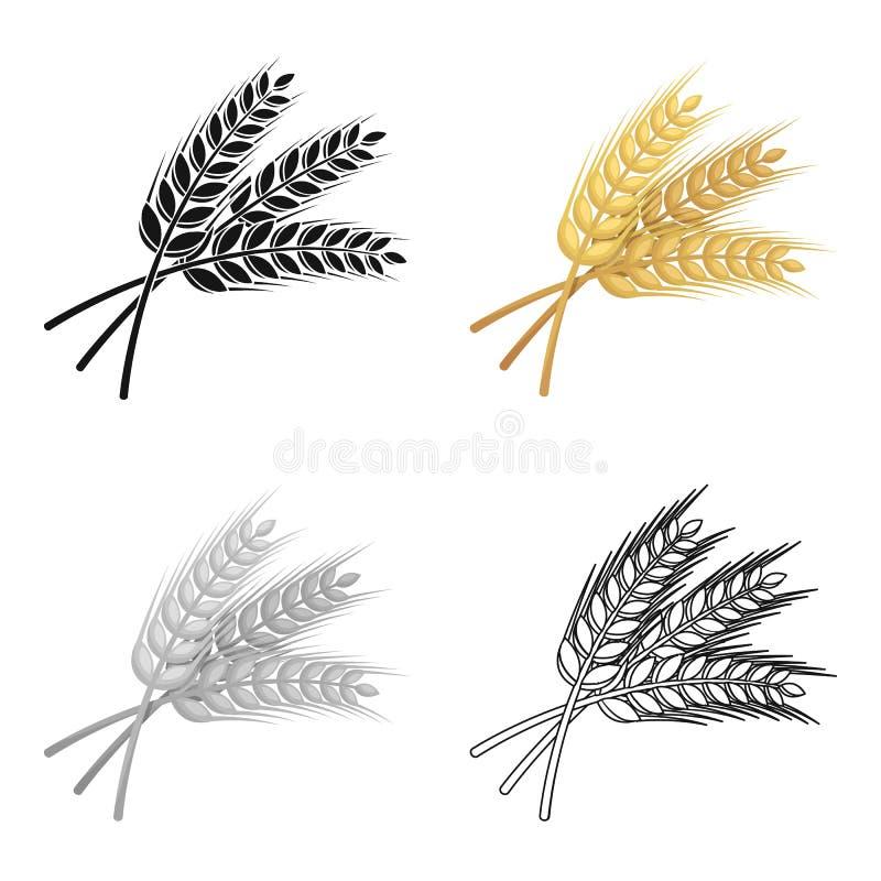 Puntillas del trigo Planta para elaborar la cerveza Solo icono del Pub en el ejemplo de la acción del símbolo del vector del esti ilustración del vector