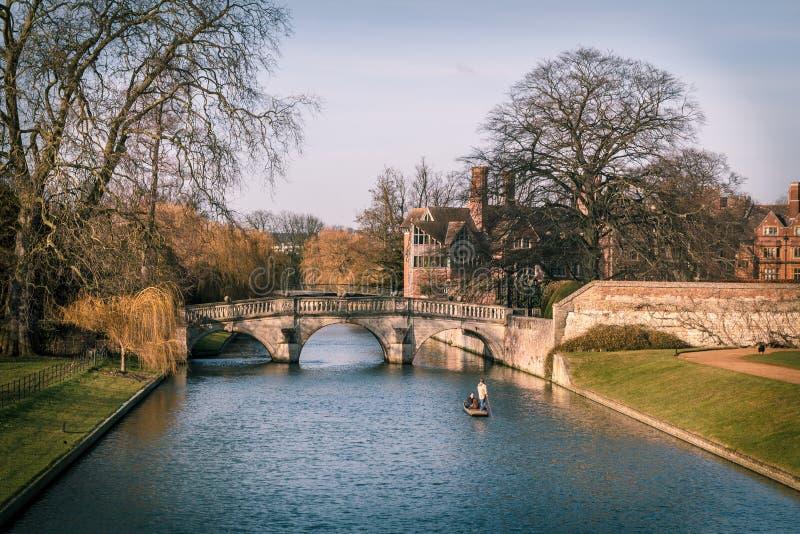 Punting @Cambridge стоковые фотографии rf
