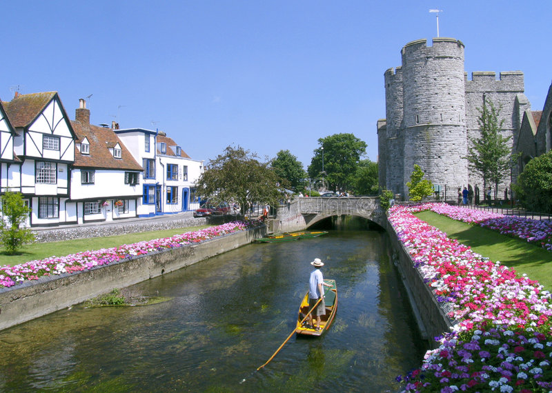 Download Punting in Canterbury stock photo. Image of beds, boat - 360942
