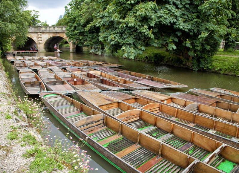 Punting i Oxford, England royaltyfri fotografi