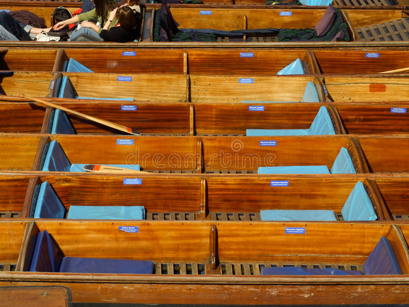 Punting on River Cam stock photography