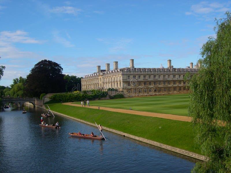 Punting uniwersytet w cambridge obrazy royalty free
