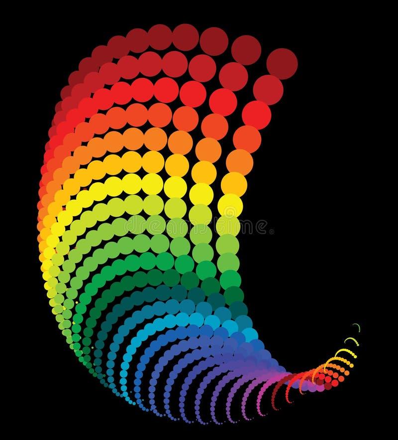 Puntini astratti del Rainbow illustrazione vettoriale