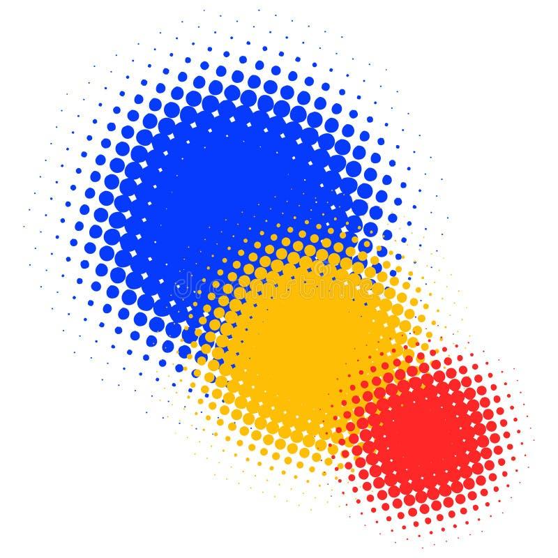 Puntini chiazzati illustrazione vettoriale