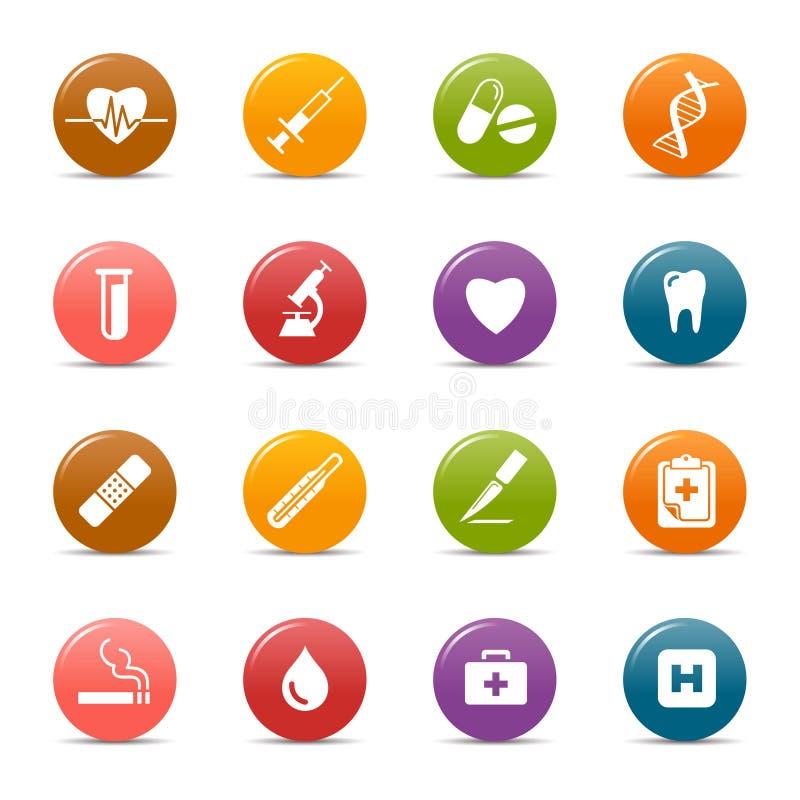 Puntini colorati - icone mediche